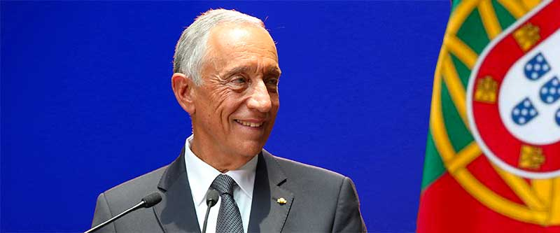 Le président, Marcelo Rebelo de Sousa
