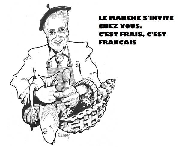Le marché s'invite chez vous, c'est frais, c'est français